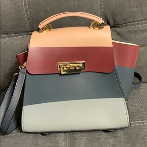 Zac Posen Striped Eartha Convert handbag backpack